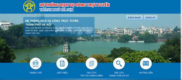 Hướng dẫn cách thực thực hiện đăng ký dịch vụ công mức độ 3,4 Hà Nội