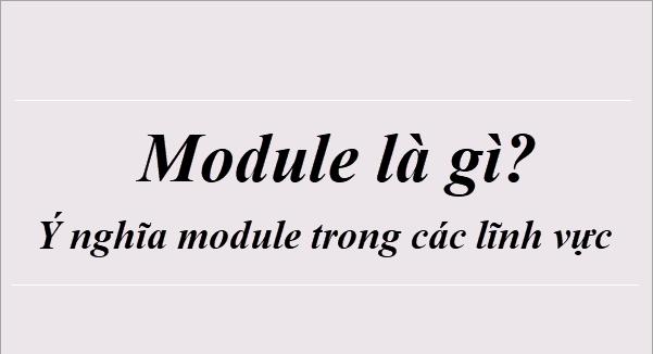 Module là gì? Module và những lĩnh vực khác nhau